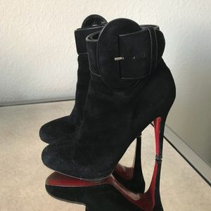 Christian Louboutin Trottinette 120 Suede Booties